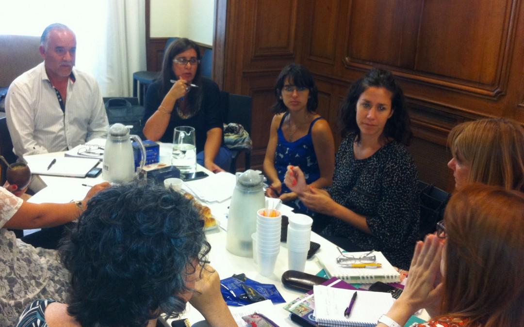 Reunión con autoridades educativas de Guaminí